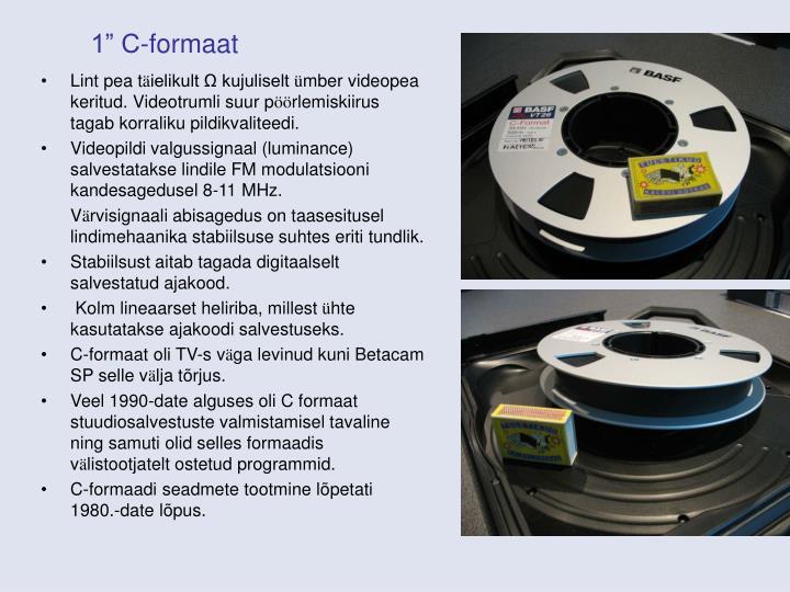 """1"""" C-formaat"""