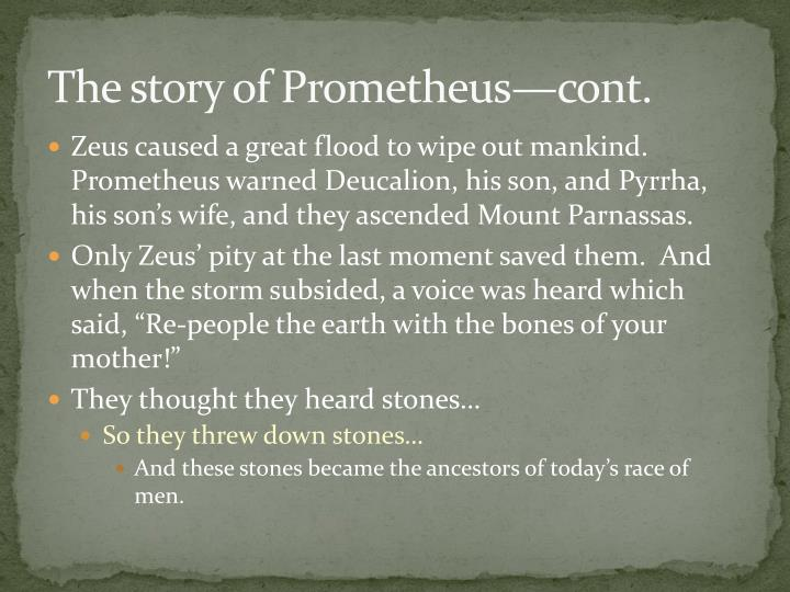 the myth of prometheus a story about choices Is director ridley scott's prometheus a  wherein he oozes charisma and sleazebaggery while relating the myth of greek titan prometheus,  ad choices.