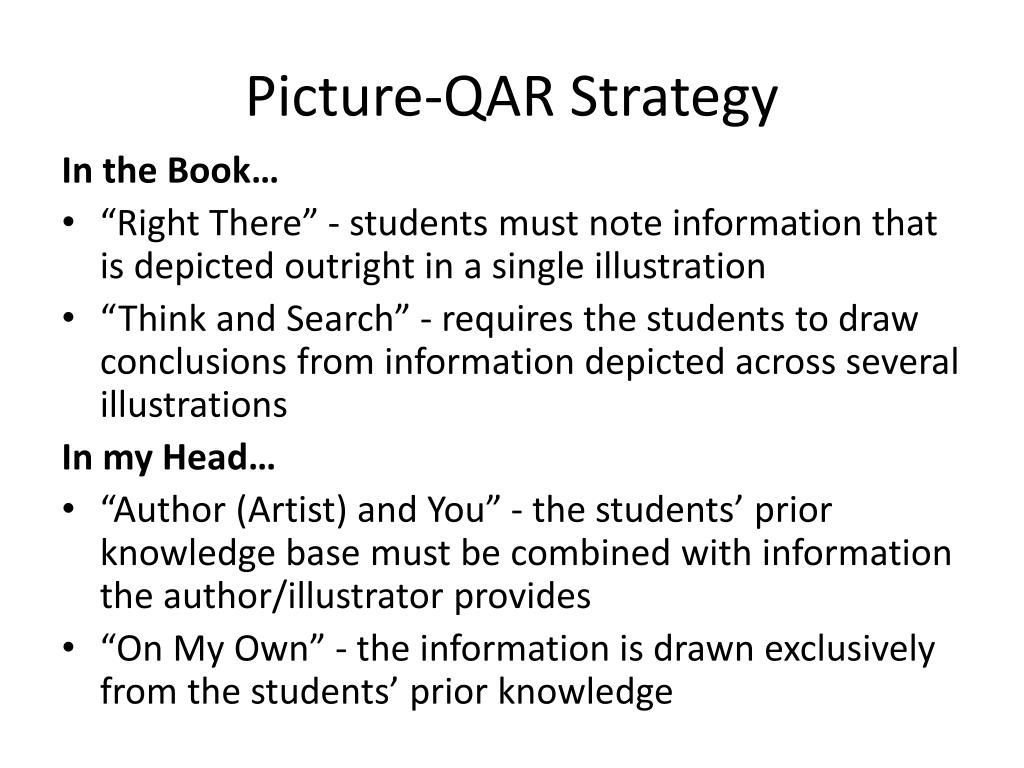 Picture-QAR Strategy