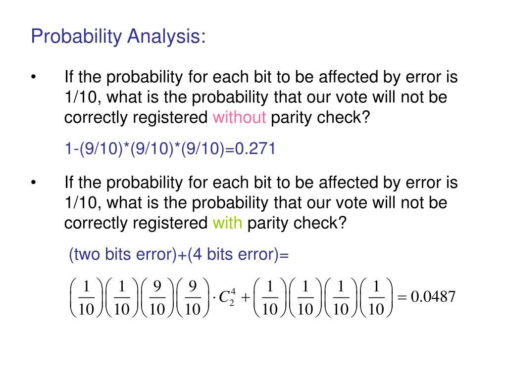 Probability Analysis: