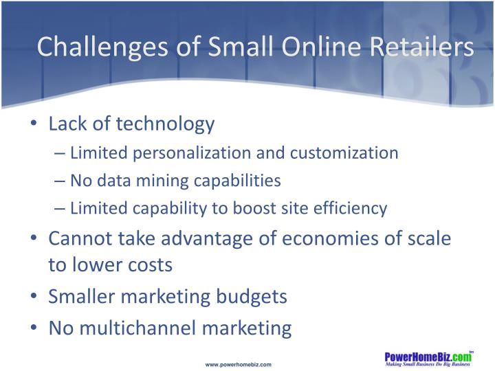 Challenges of Small Online Retailers