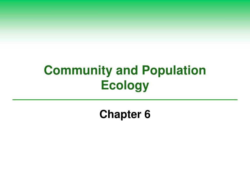 Community and Population Ecology