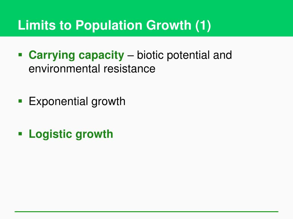 Limits to Population Growth (1)
