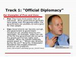 track 1 official diplomacy