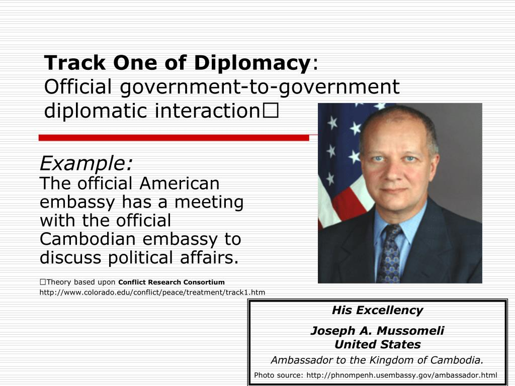 Track One of Diplomacy