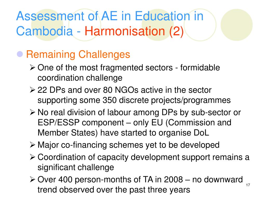 Assessment of AE in Education in Cambodia -