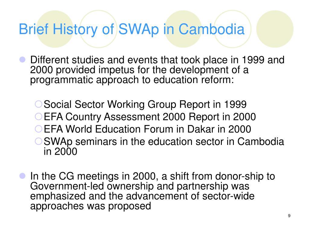 Brief History of SWAp in Cambodia