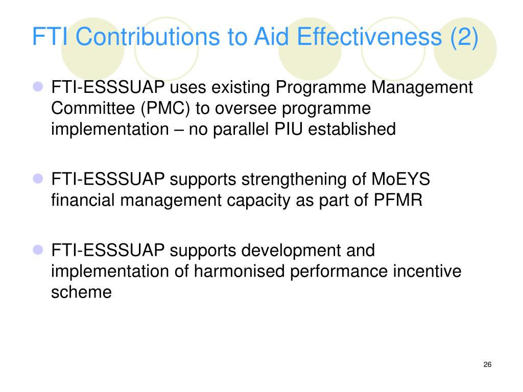 FTI Contributions to Aid Effectiveness (2)