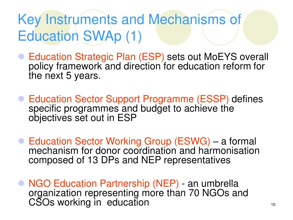 Key Instruments and Mechanisms of Education SWAp (1)