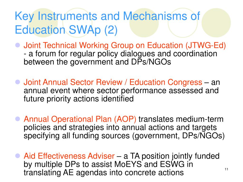Key Instruments and Mechanisms of Education SWAp (2)
