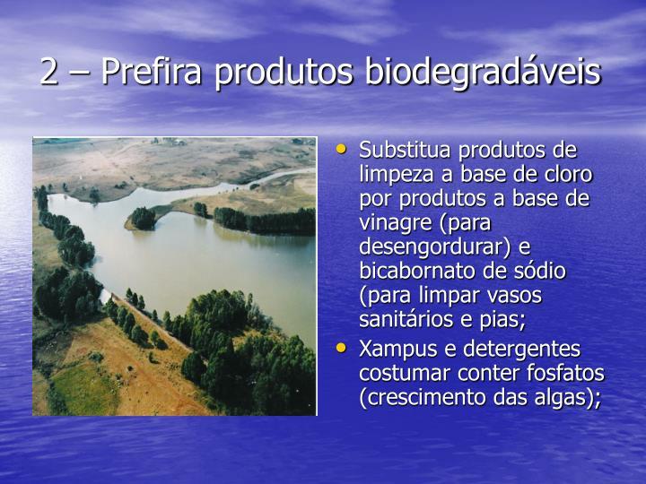 2 – Prefira produtos biodegradáveis