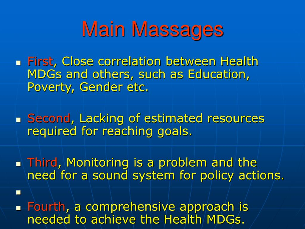 Main Massages