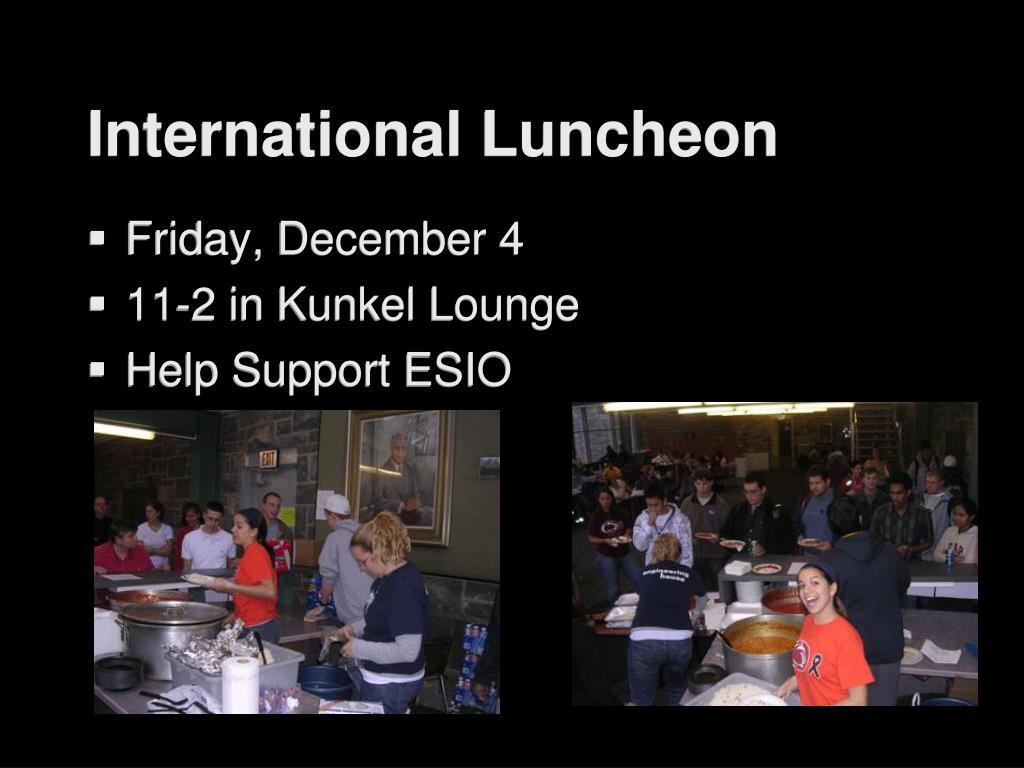 International Luncheon