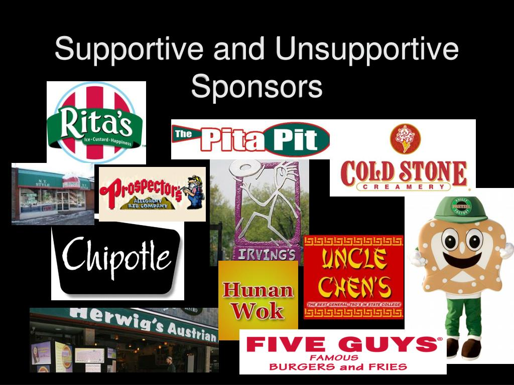 Supportive and Unsupportive Sponsors