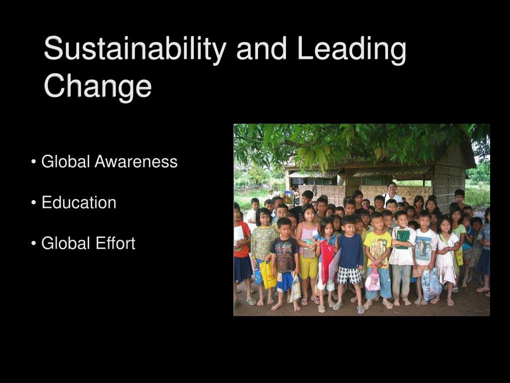 Sustainability and Leading Change