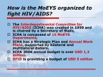 how is the moeys organized to fight hiv aids