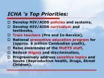 icha s top priorities