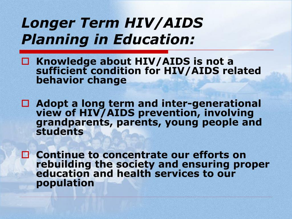 Longer Term HIV/AIDS Planning in Education: