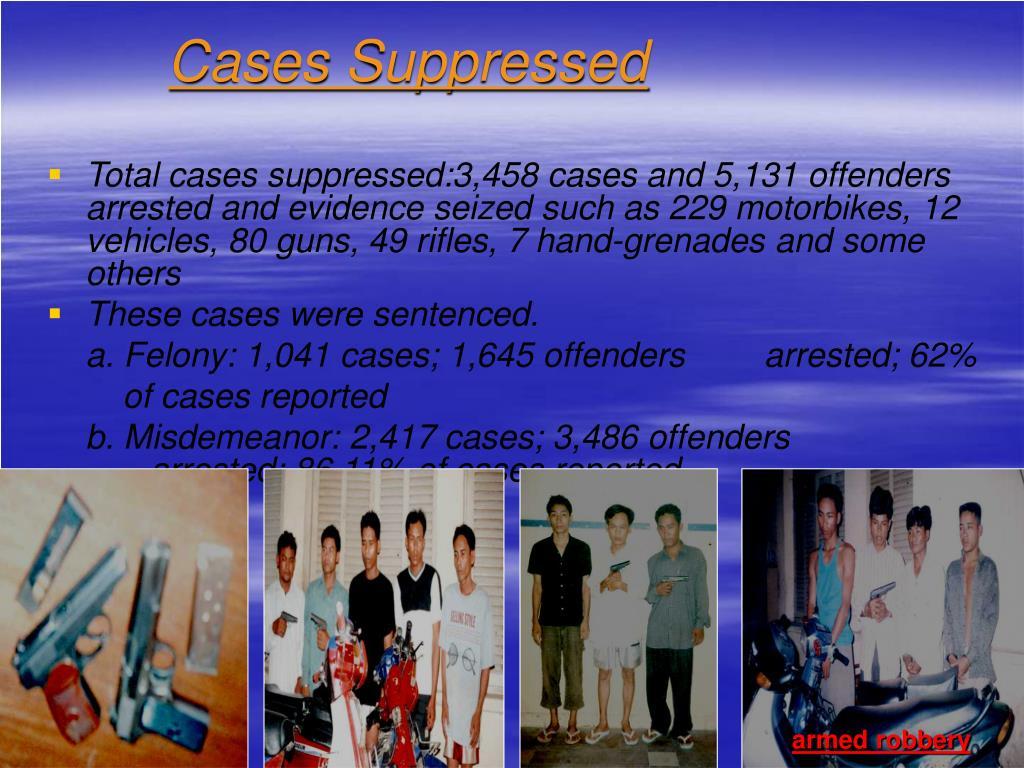 Cases Suppressed
