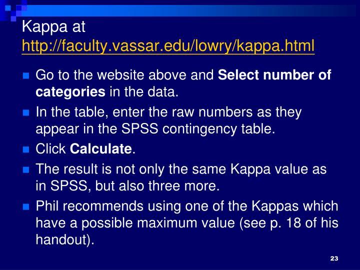 Kappa at