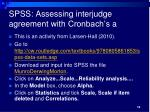 spss assessing interjudge agreement with cronbach s a