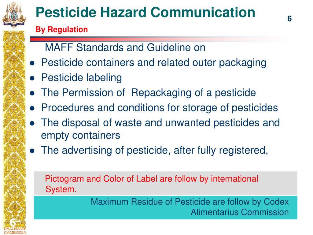 Pesticide Hazard Communication