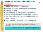 pesticide hazard communication by regulation