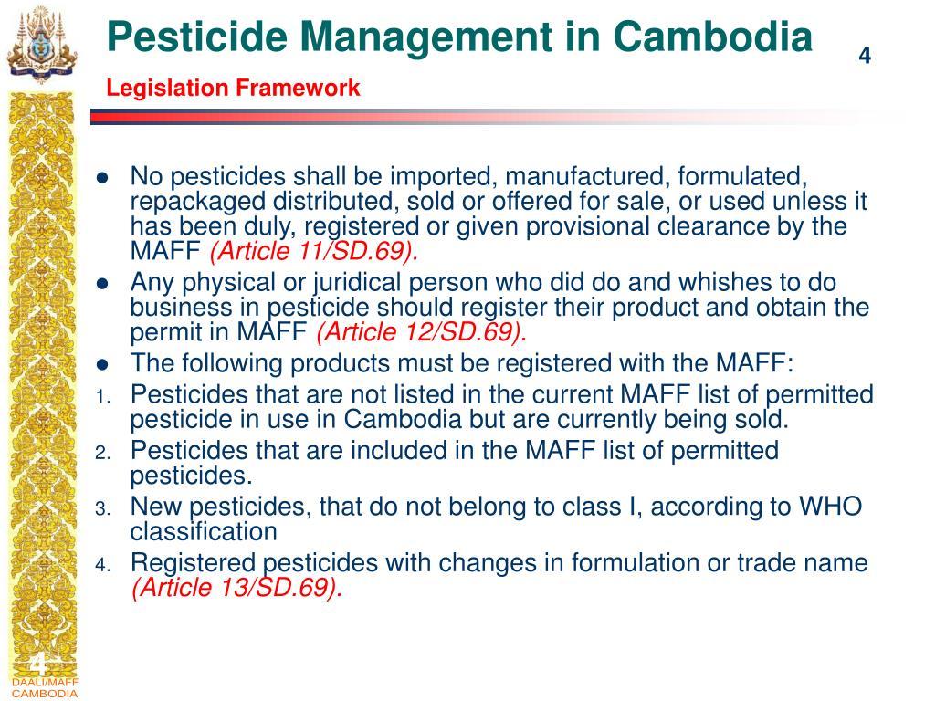 Pesticide Management in Cambodia