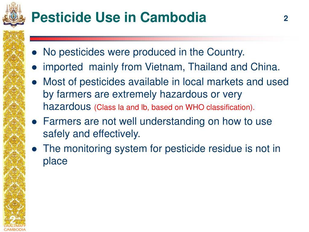 Pesticide Use in Cambodia