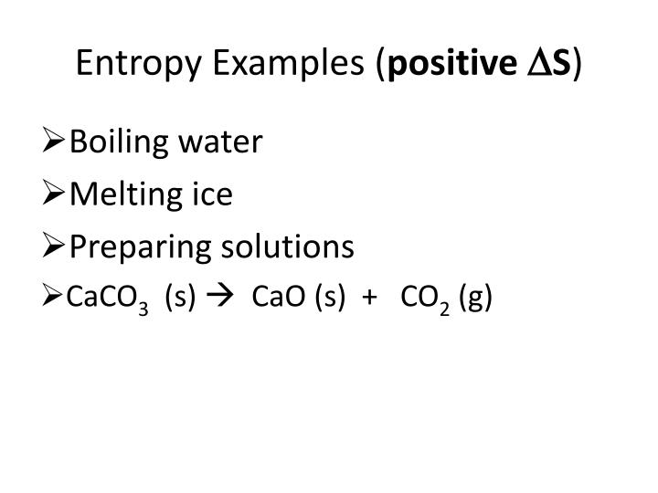 Entropy Examples (