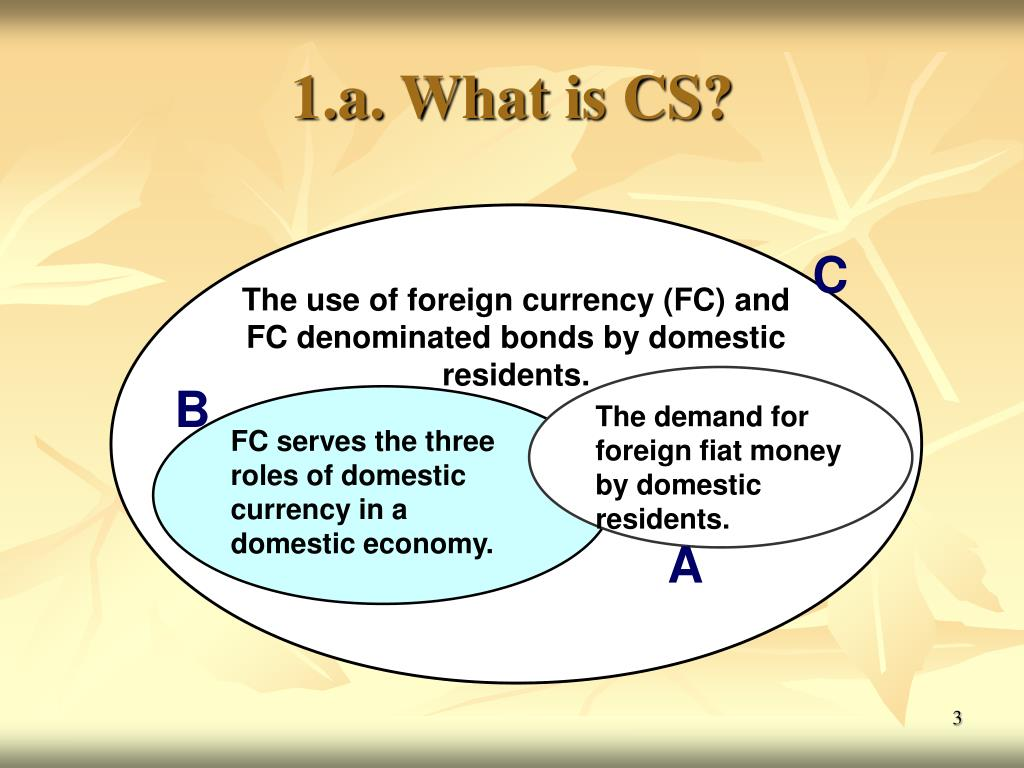 The use of foreign currency (FC) and FC denominated bonds by domestic residents.
