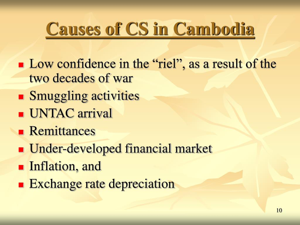 Causes of CS in Cambodia