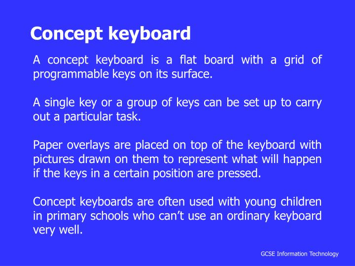 Concept keyboard