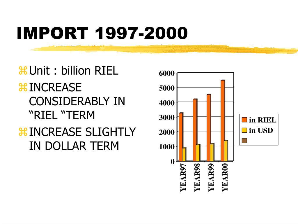 IMPORT 1997-2000