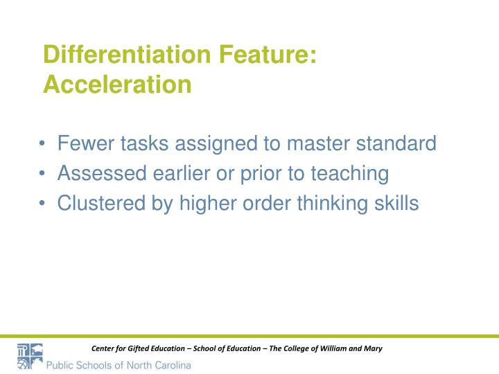 Differentiation Feature: