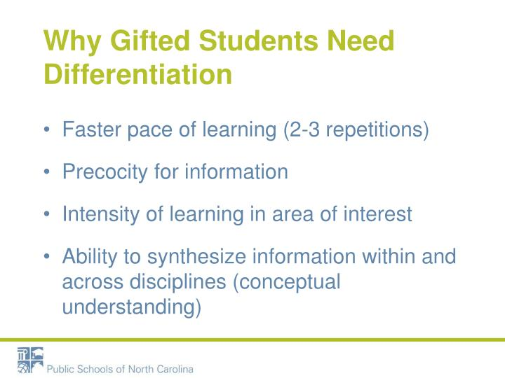 Why Gifted Students Need Differentiation