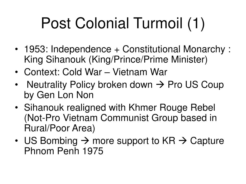 Post Colonial Turmoil (1)