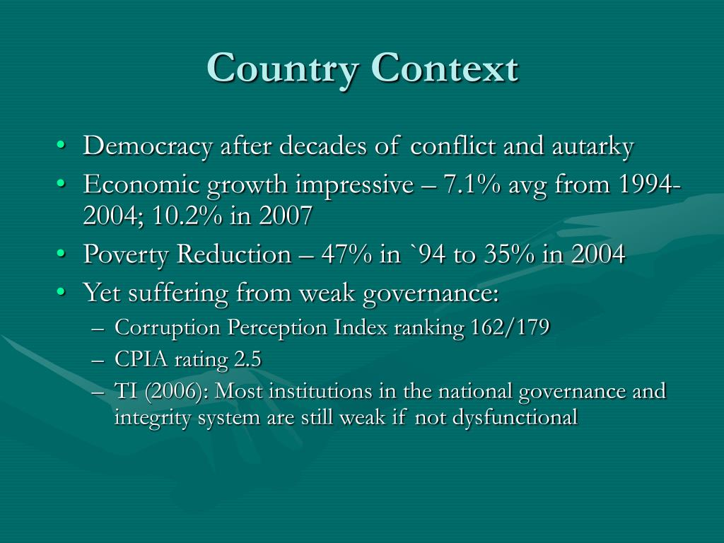 Country Context