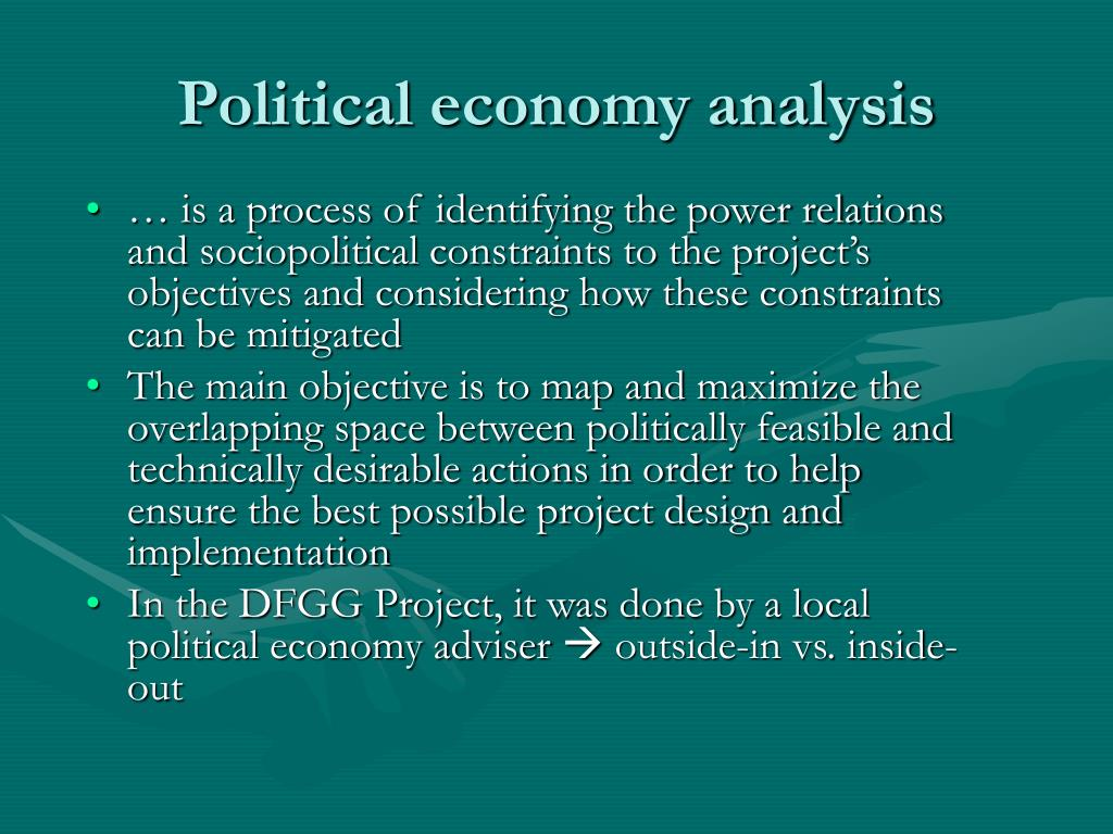 Political economy analysis