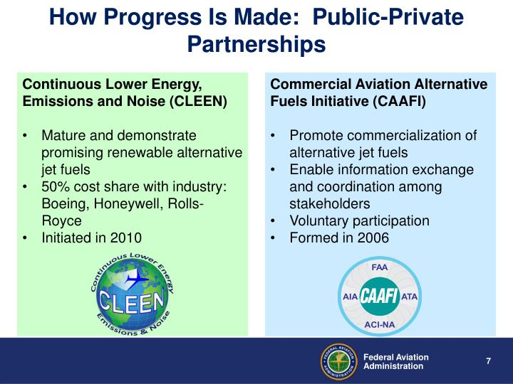 How Progress Is Made:  Public-Private Partnerships