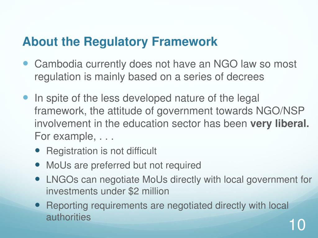About the Regulatory Framework