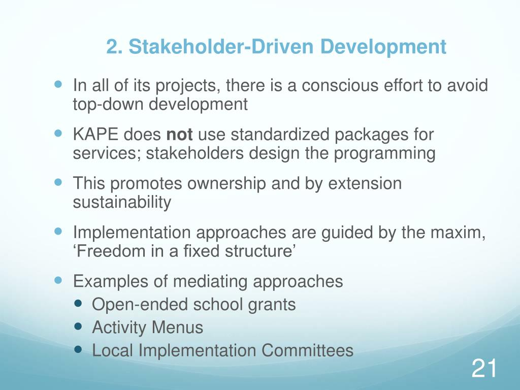 2. Stakeholder-Driven Development