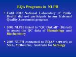 eqa programs in nlph