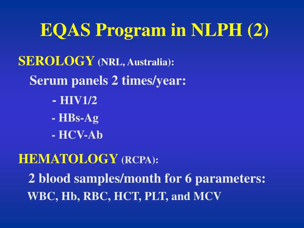 EQAS Program in NLPH (2)