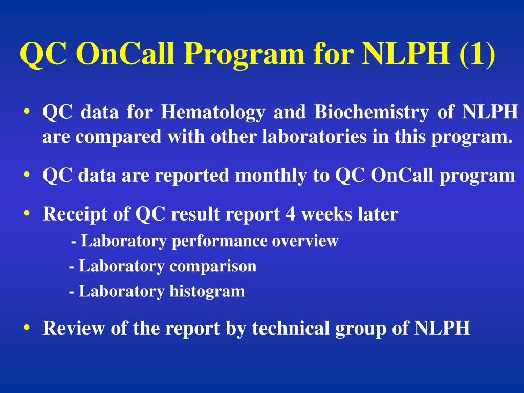 QC OnCall Program for NLPH (1)