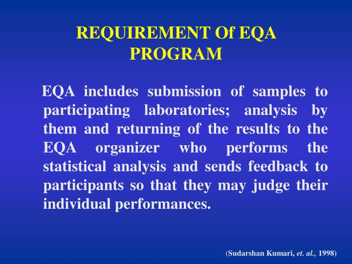 Requirement of eqa program l.jpg