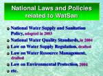 national laws and policies related to watsan
