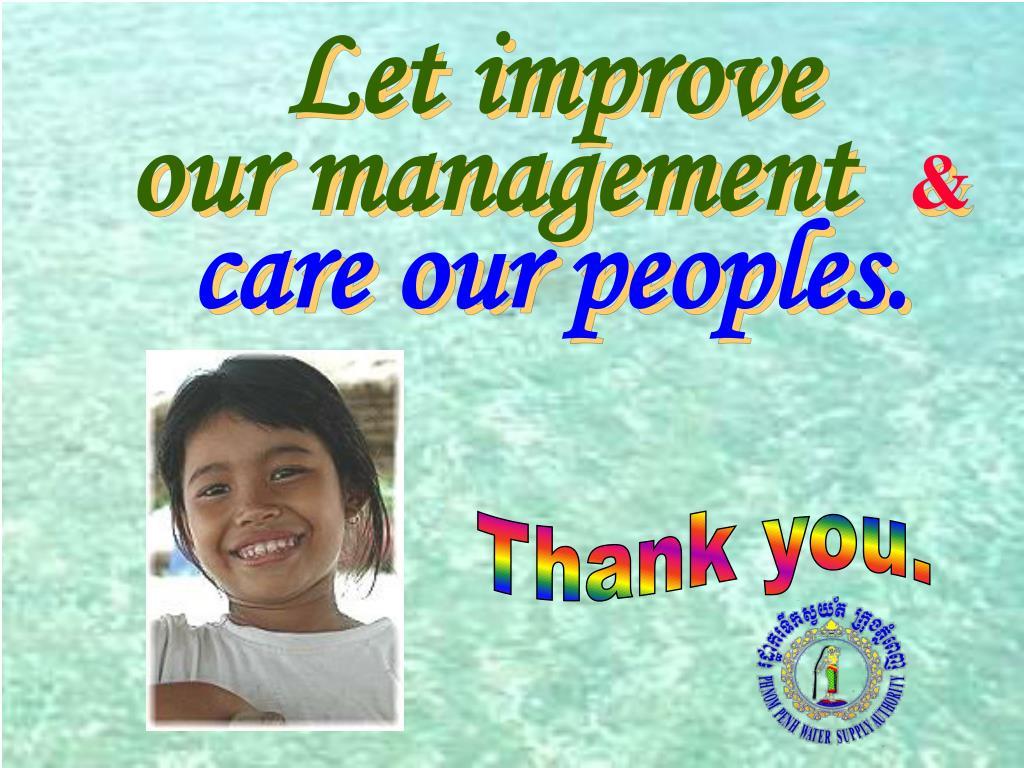 Let improve