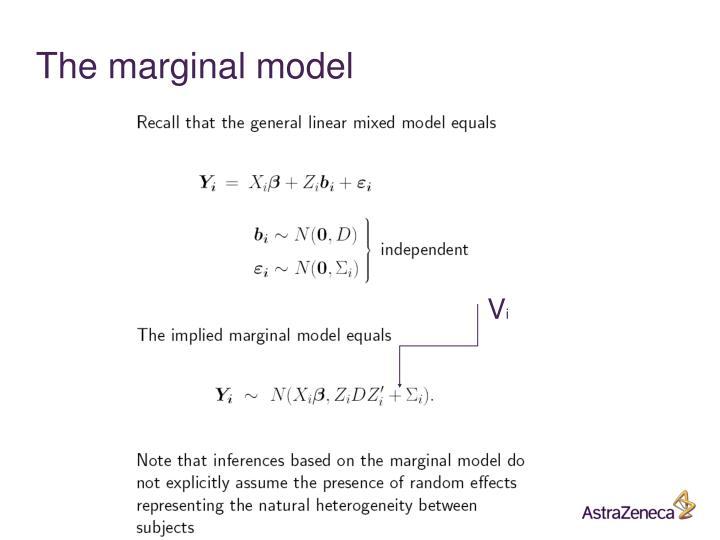 The marginal model