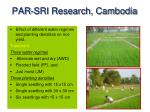 par sri research cambodia
